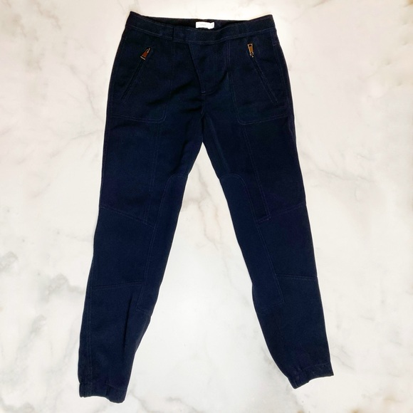 Vince Tailored Navy Trousers